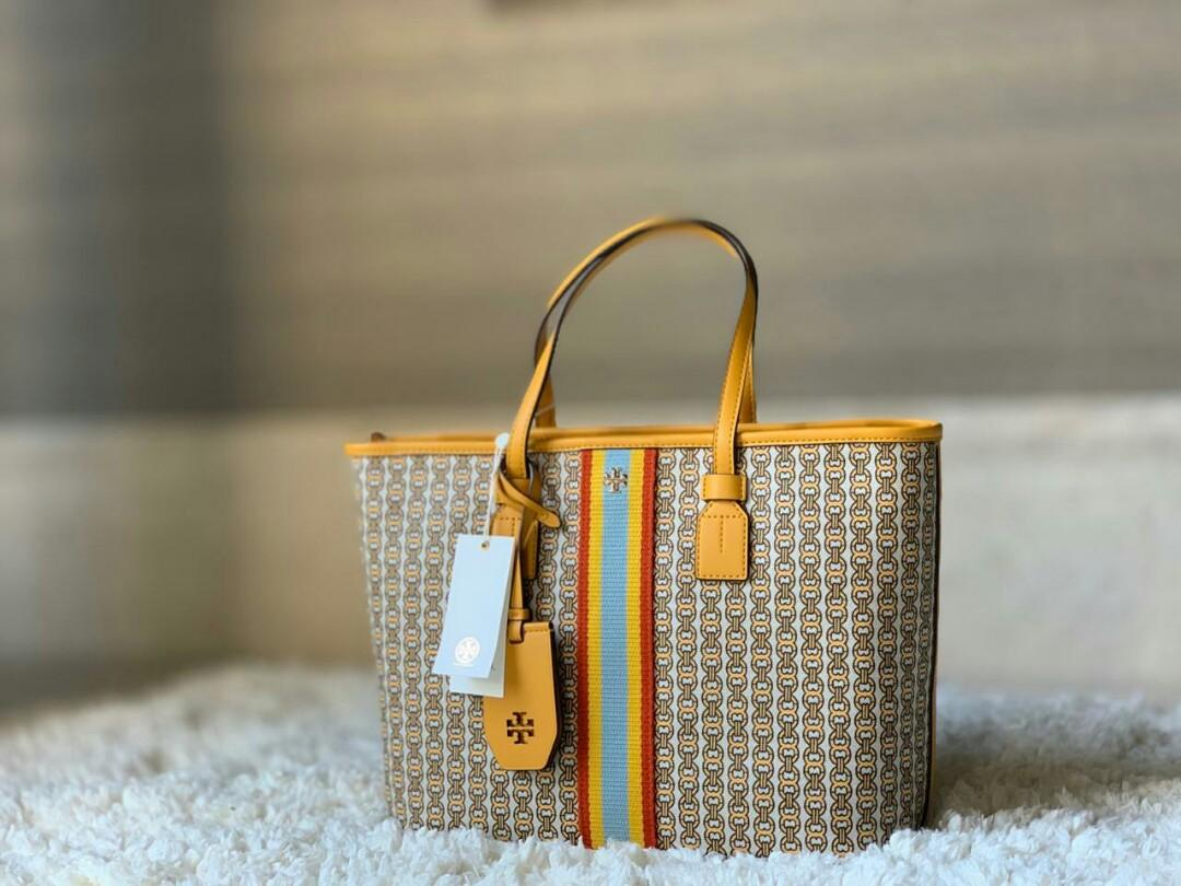 TB gemini link canvas tote small ( with strap ) daylily yellow Size : 30cm x 24cm