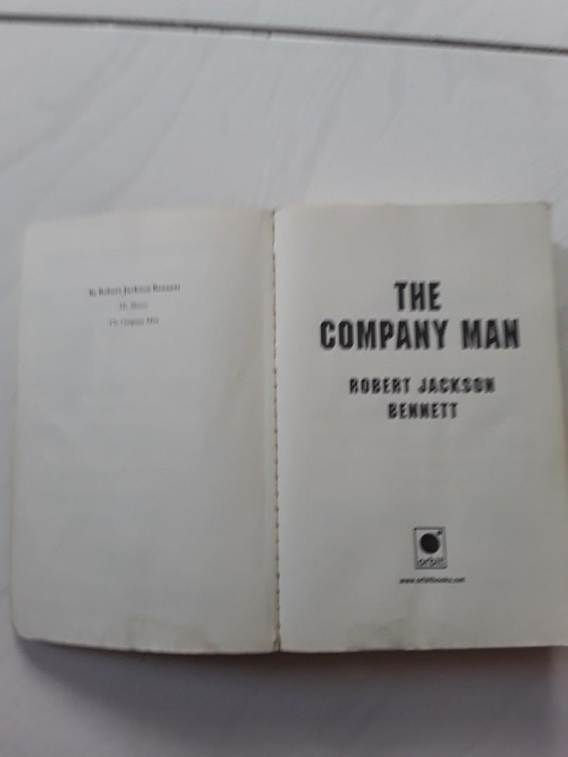 THE COMPANY MAN BY ROBERT JACKSON BENNETT, SOFT COVER, GOOD READABLE CONDITION