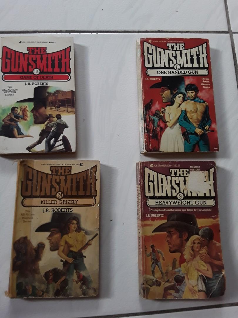 THE GUNSMITH ADULT WESTERNS  BY J.R. ROBERTS, LOT OF 4  ,uGOOD READABLE CONDITION