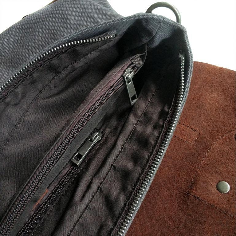 The Ninja Co. Full Grain Vintage Leather Sling Bag Shoulder Men Women Backpack Crossbody Messenger Travel Gift NB 8804