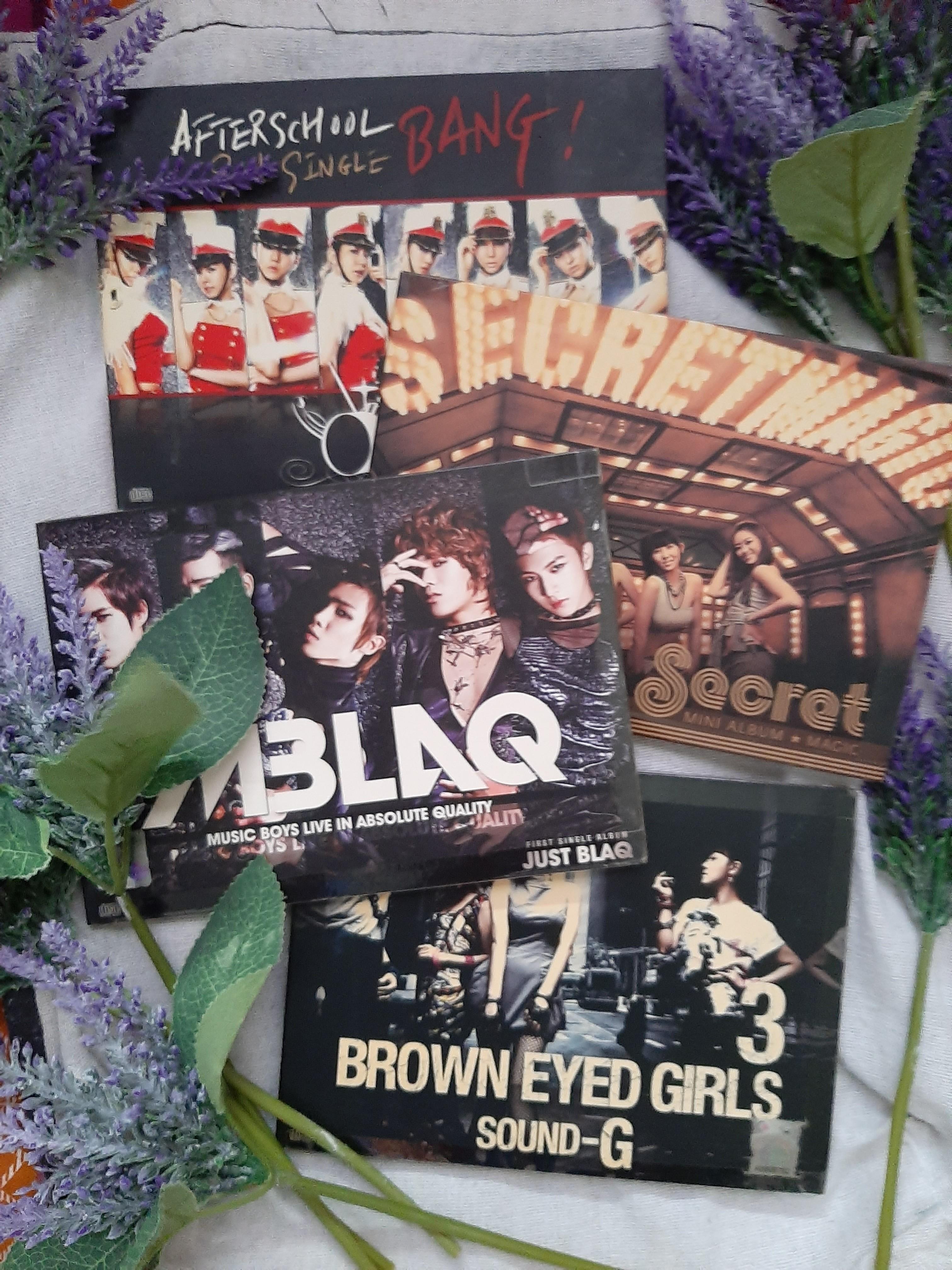 WTS Assorted Kpop Album (After School, Secret, MBLAQ, Brown eyed girls (BEG))