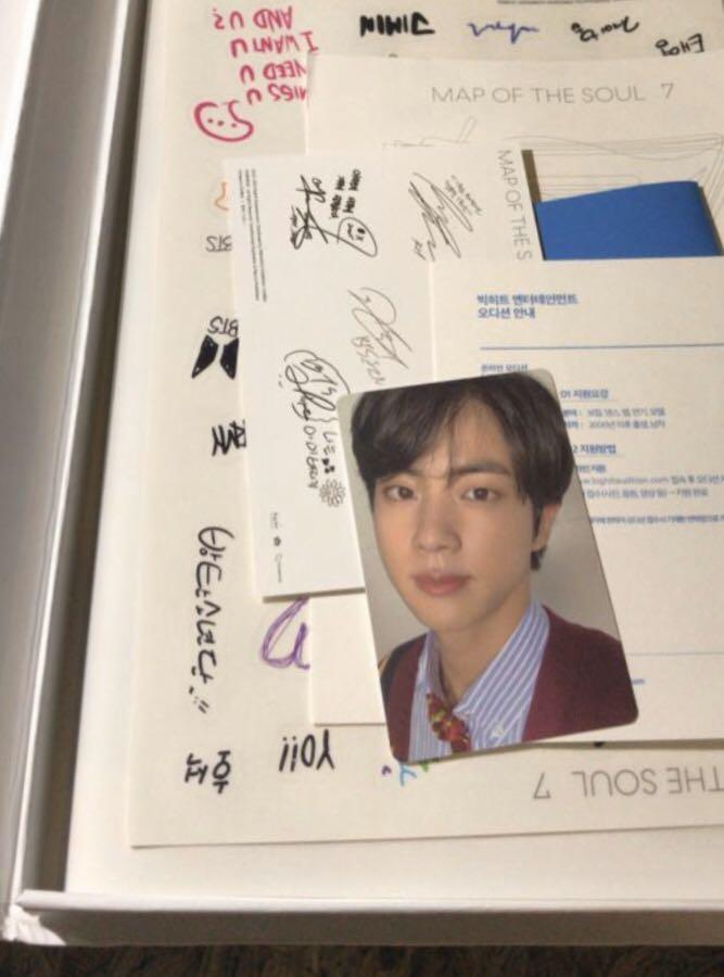 WTT BTS MAP OF THE SOUL : 7 JIN VERSION 4 PHOTOCARD
