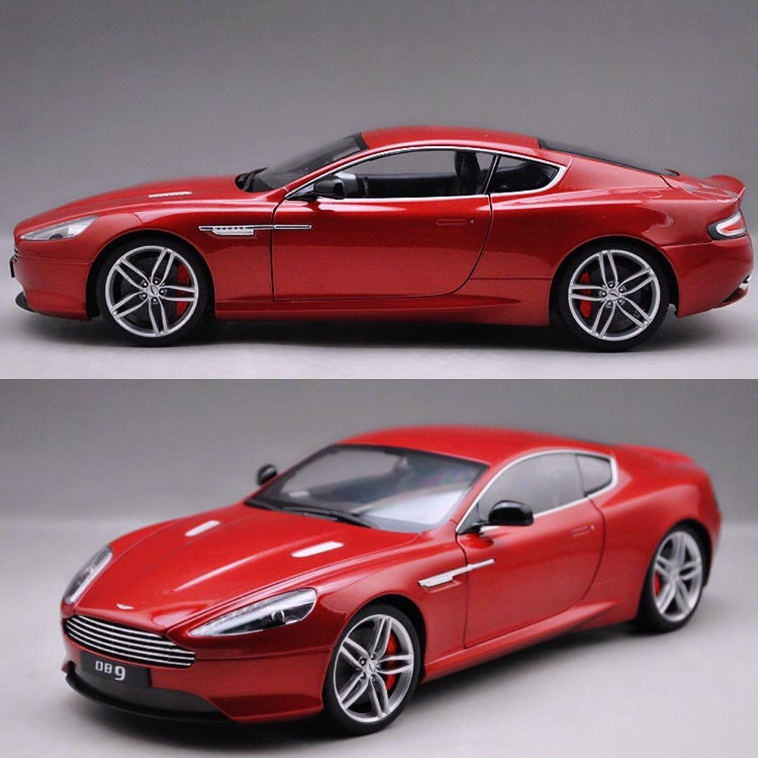 Negotiable 1 18 Aston Martin Db9 Diecast Model Red White And Black Toys Games Bricks Figurines On Carousell