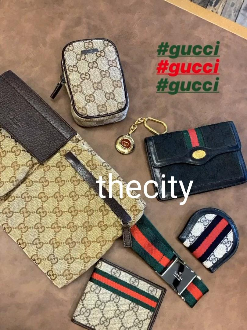 AUTHENTIC GUCCI SMALL LEATHER GOODS - WALLET , KEY RING  HOLDER , BELT BAG  , COIN POUCH