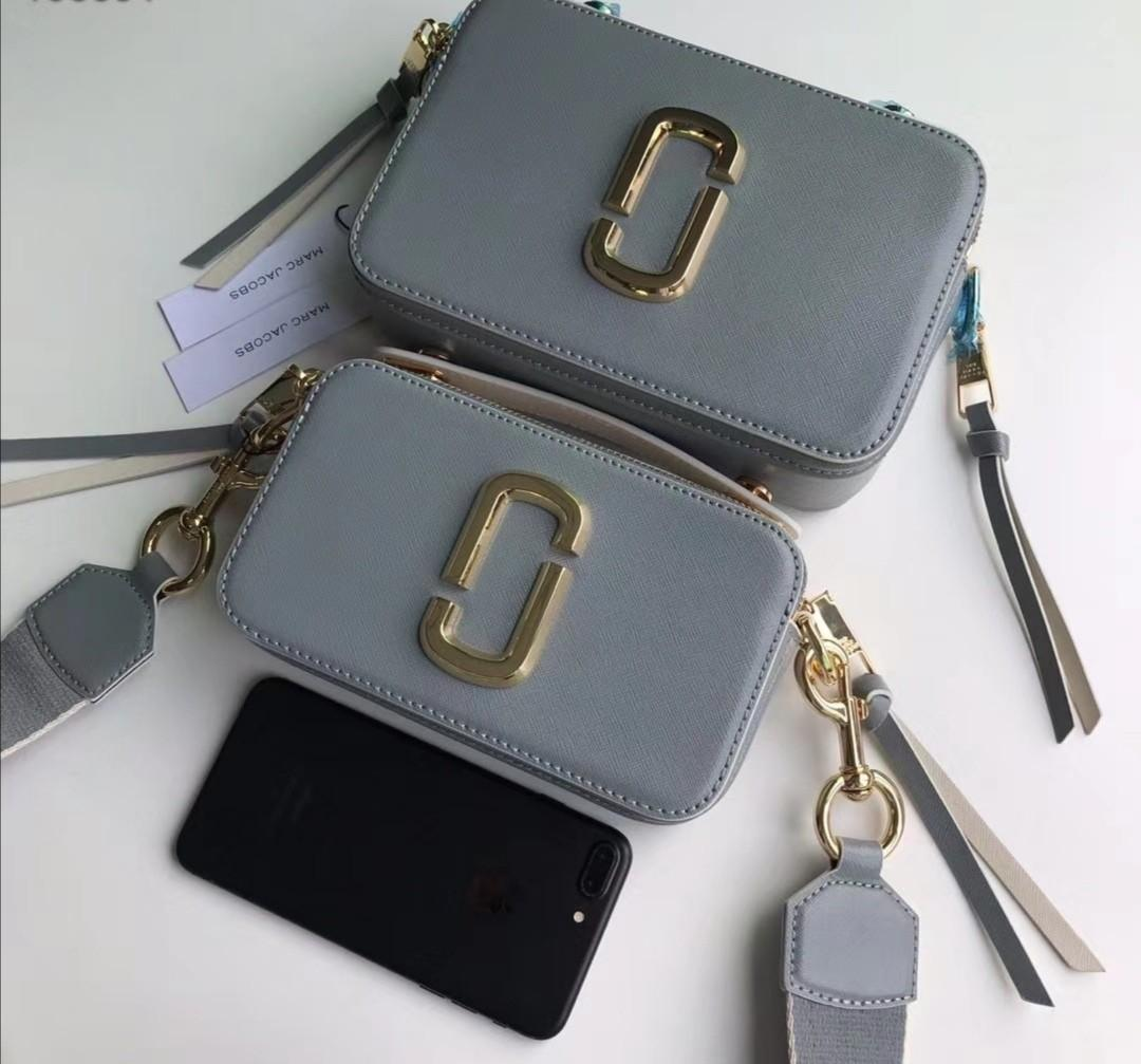 Authentic Marc Jacobs snapshot in grey crossbody sling bag handbag summer collections