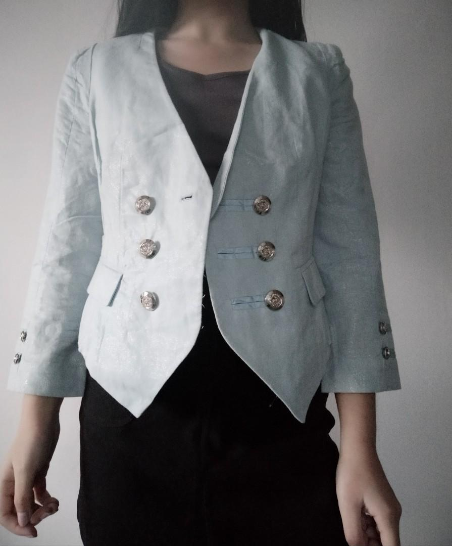 Baby blue outerwear