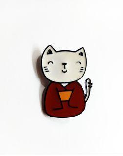 Cat 01 enamel pin