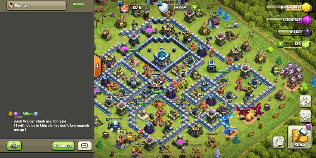 Clash of clans 90% max th13