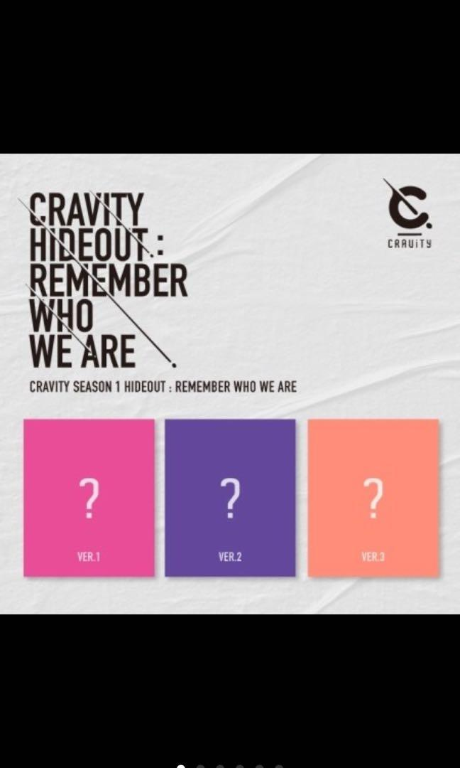CRAVITY SEASON1. [HIDEOUT: REMEMBER WHO WE ARE] (All Package + Preorder Benefit + Poster)