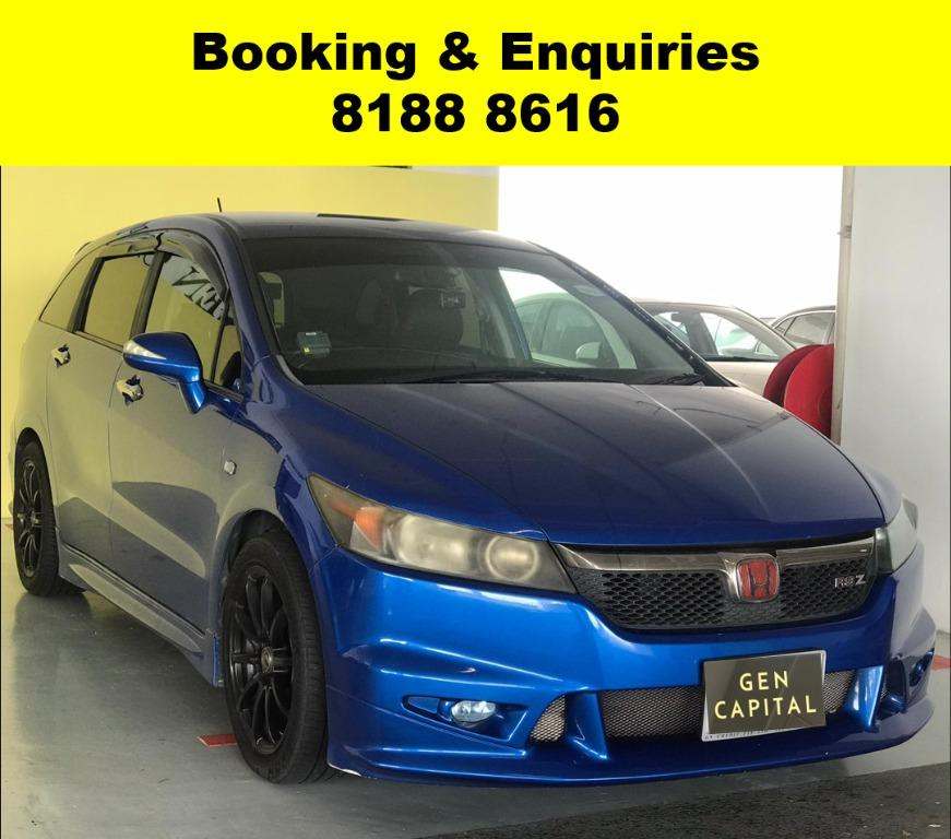 Honda Stream RSZ -THE LOWEST RENTAL WITH 50% OFF DURING CIRCUIT BREAKER, ADVANCE BOOKING ONLY. $500 deposit driveaway. Whatsapp 8188 8616 now to enjoy special rates!!