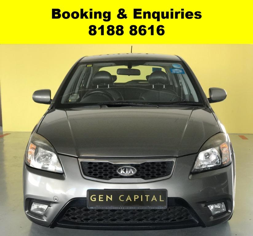 Kia Rio JUST IN  -THE LOWEST RENTAL WITH 50% OFF DURING CIRCUIT BREAKER, ADVANCE BOOKING ONLY. $500 deposit driveaway. Whatsapp 8188 8616 now to enjoy special rates!!