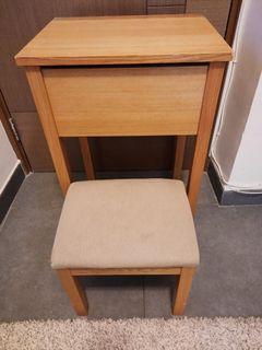 Muji Oak Dresser with Stool