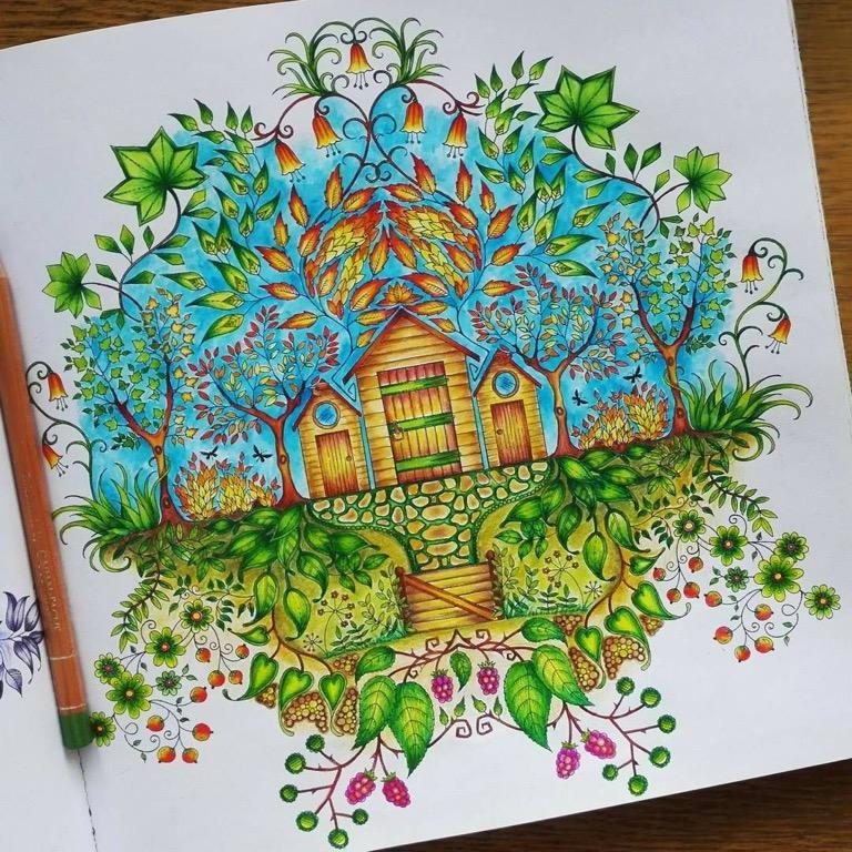 - The Secret Garden Coloring Book By Johanna Basford, Design & Craft, Art &  Prints On Carousell