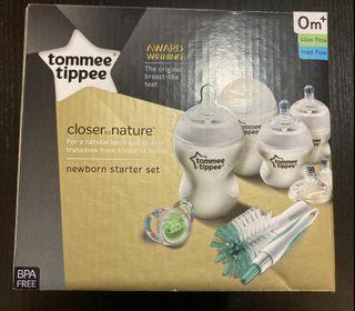Tommee Tippee Closer To Nature Newborn Starter Kit 闊嘴奶瓶套裝(連奶嘴)