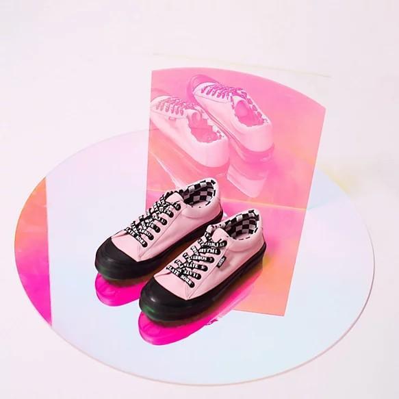 VANS X LAZY OAF Baby Pink Sneakers [37