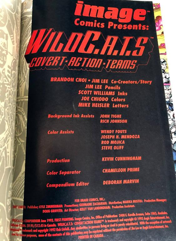 WILDCATS Covert Action Teams Compendium Compilation Image Comics Jim Lee graphic novel