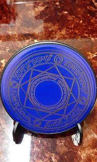 魔法光陣無線充電盤(小巧輕薄型:直徑10cm) 顏色 : 圓桌藍武士 僅剩一件!