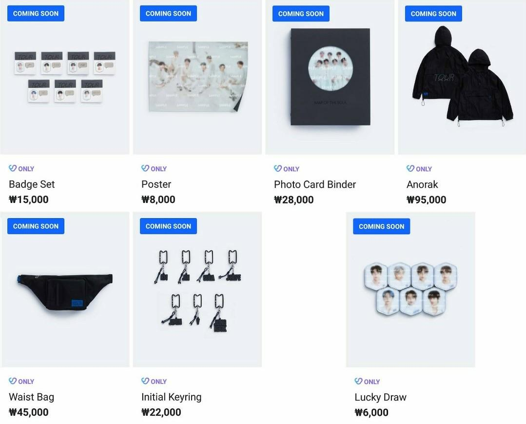 [2nd PRE ORDER] BTS MAP OF THE SOUL TOUR MERCHANDISE