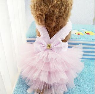 出清寵寵物裙子 粉色紗裙 紗紗裙 網紗裙