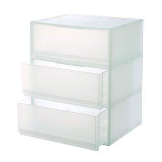 無印良品 MUJI PP衣裝盒 橫式 三層 收納 二手