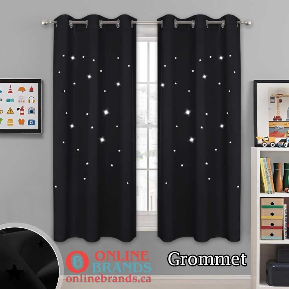 Laser cut Star Blackout Curtain | Curtains for Living room | Free shipping | Online Brands Canada