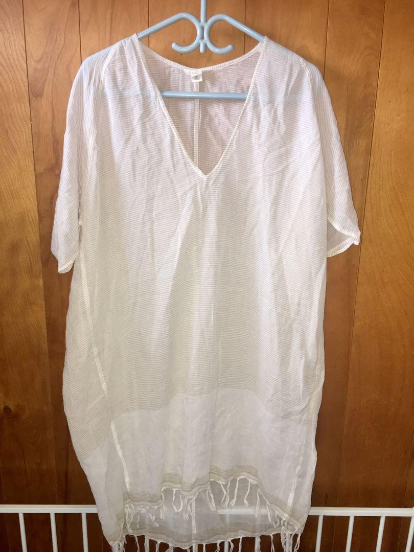 Like new Caslon white/beige pullover dress sz M/L from Nordstrom