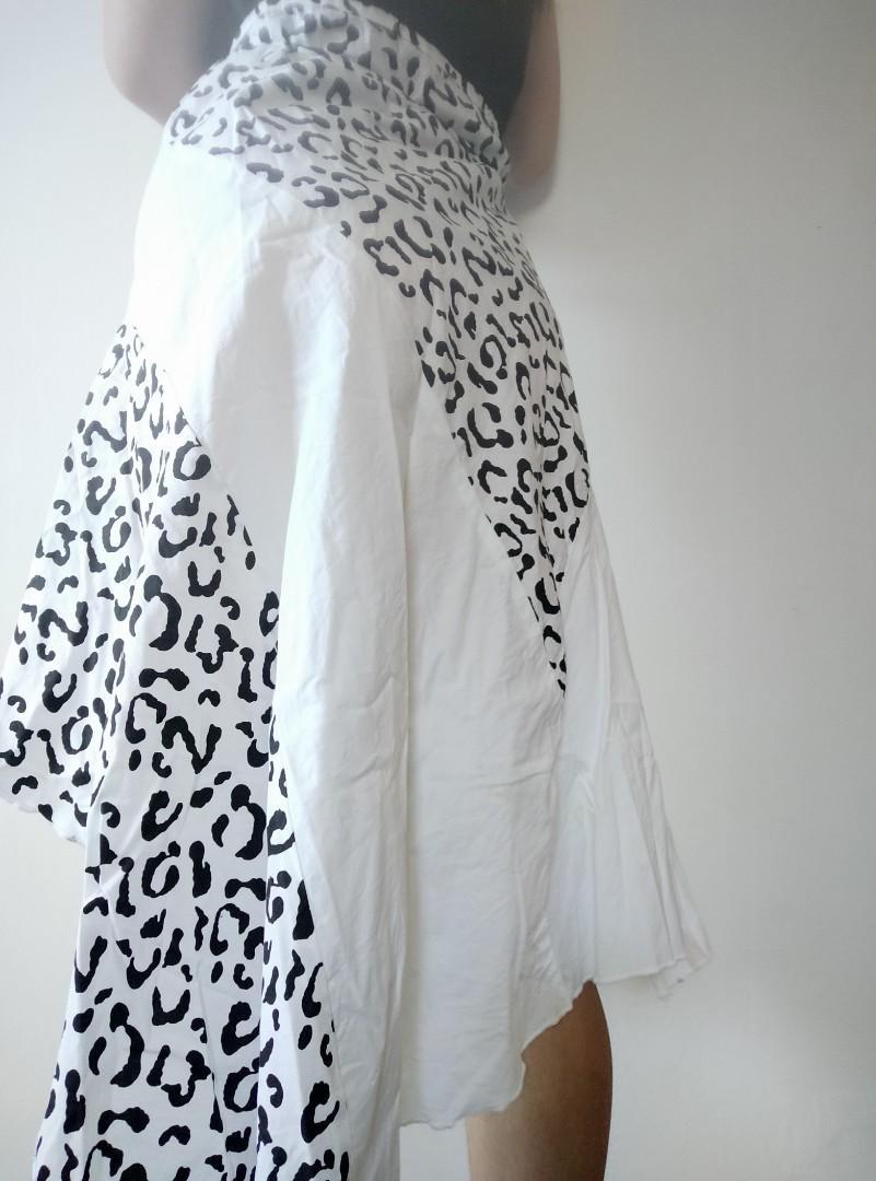 Midi highlow skirt