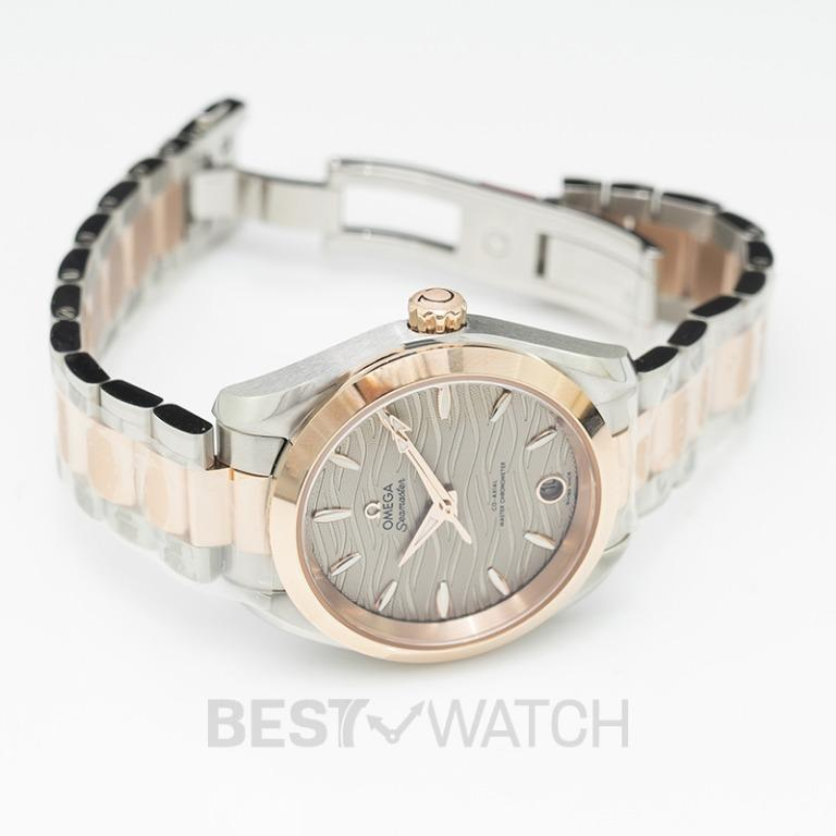 [NEW] Omega Seamaster Aqua Terra 150M Co-Axial Master Chronometer 34mm Automatic Grey Dial Gold Ladies Watch 220.20.34.20.06.001