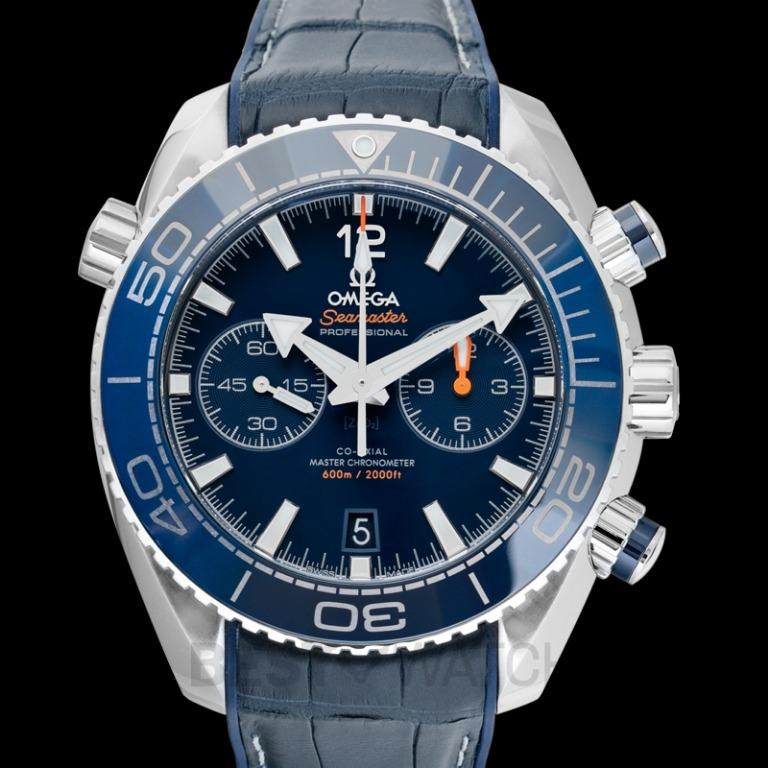 [NEW] Omega Seamaster Planet Ocean 600M Co-Axial Master Chronometer Chronograph 45.5 mm Automatic Blue Dial Steel Men's Watch 215.33.46.51.03.001