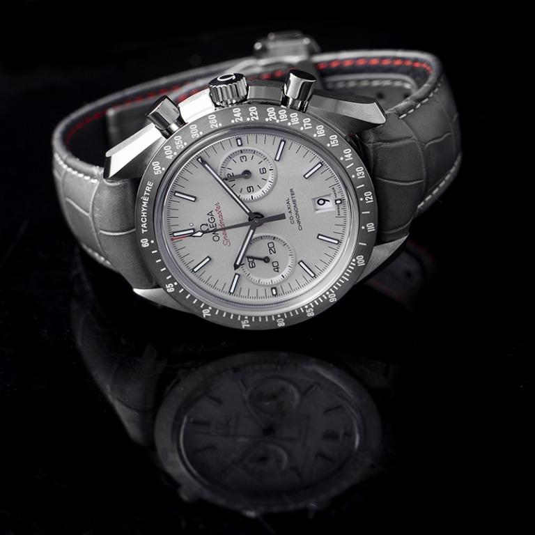 [NEW] Omega Speedmaster Moonwatch Co-Axial Chronograph 44.25mm Automatic Grey Dial Ceramic Men's Watch 311.93.44.51.99.002