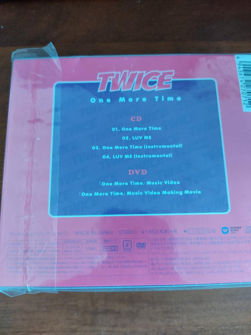 TWICE JAPAN ALBUM - One More Time - LIMITED EDITION TYPE A w/ DVD