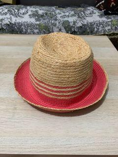 竹編帽 帽子