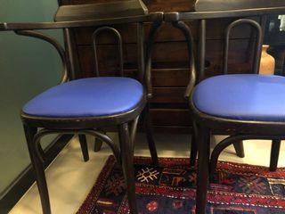Antique colonial solid bentwood chairs