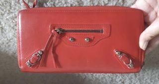 Balenciaga Red Long Wallet RHW