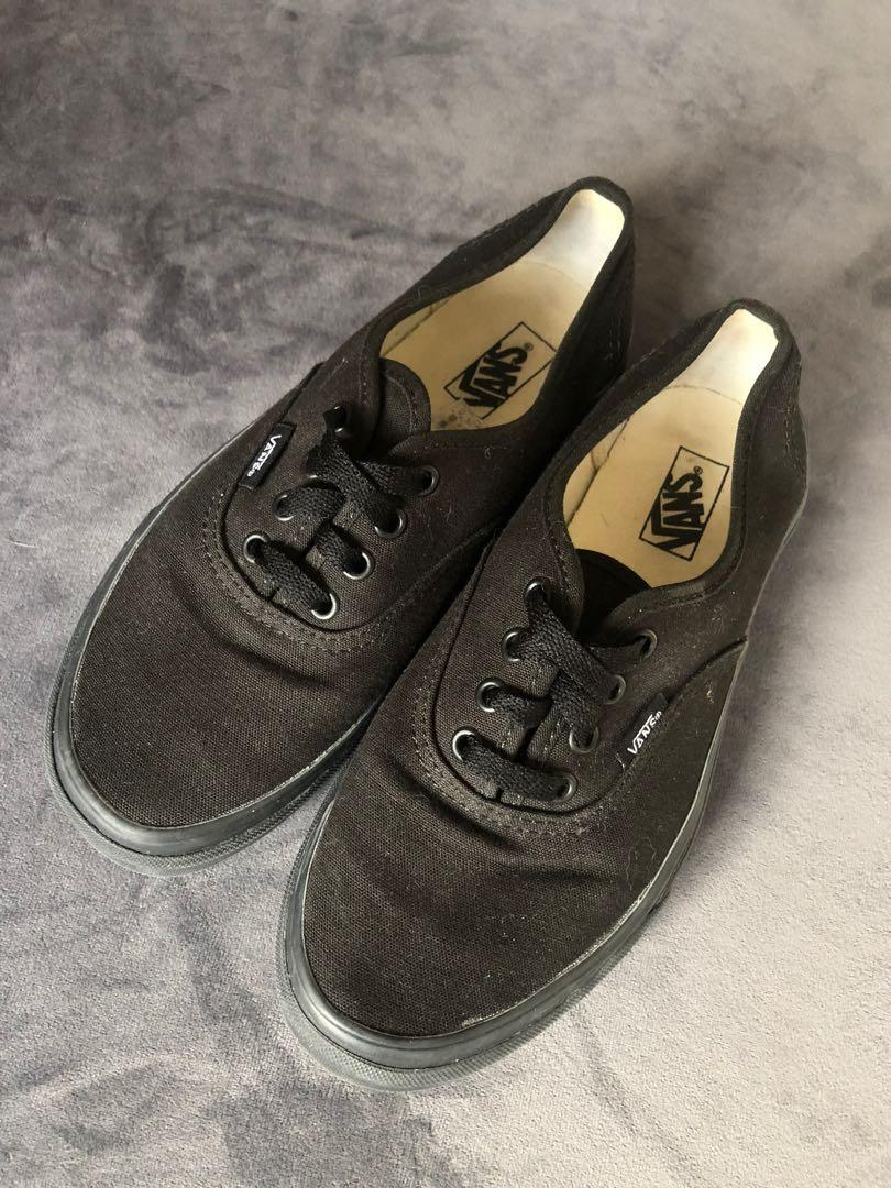 Black Canvas Vans