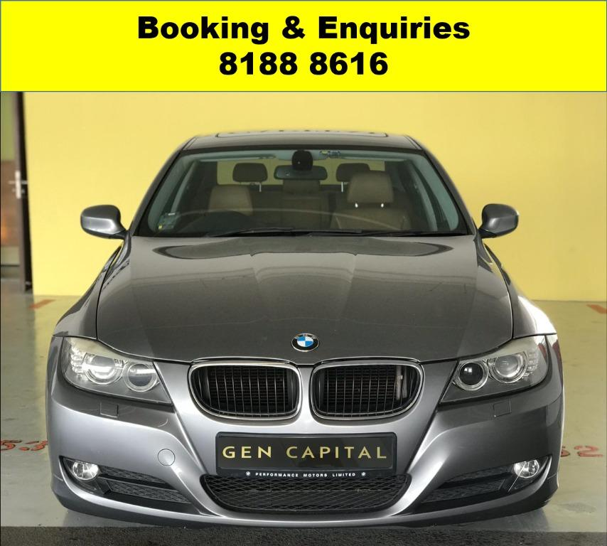 BMW 320i 50% OFF CIRCUIT PERIOD ONLY!! GRAB A CAR BY 30TH APRIL TO ENJOY THE LOWEST RENTAL! WHATSAPP 8188 8616 FOR MORE INFO!