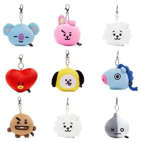 🌼BT21 official Face PlushDoll Bagcharm keyring