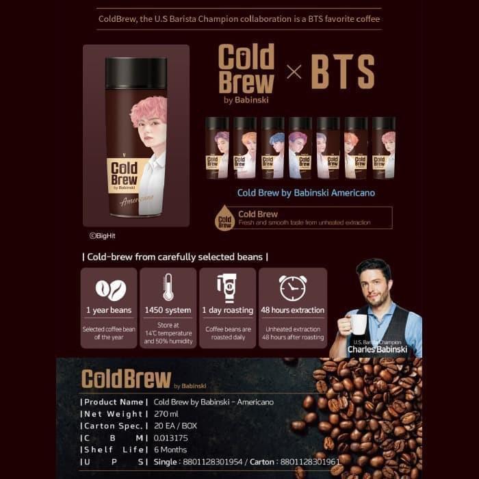 BTS V x Babinski Cold Brew Americano (Botol + Kopi) 270mL (Ver.2)