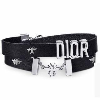 Dior 蜜蜂皮革頸鏈