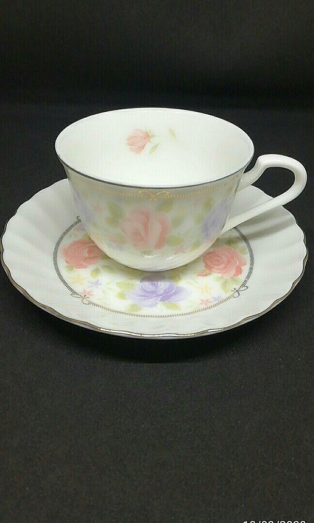 Elegance Goods Floral Tea Cup 3 Sets Home Furniture Home Appliances Other Kitchen Appliances On Carousell