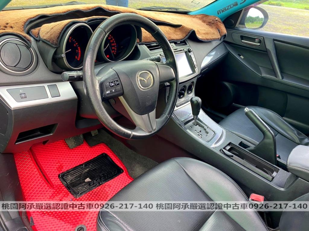 【FB搜尋桃園阿承】馬自達 超人氣MAZDA3跑14萬 2010年 1.6CC 黑色 二手車 中古車