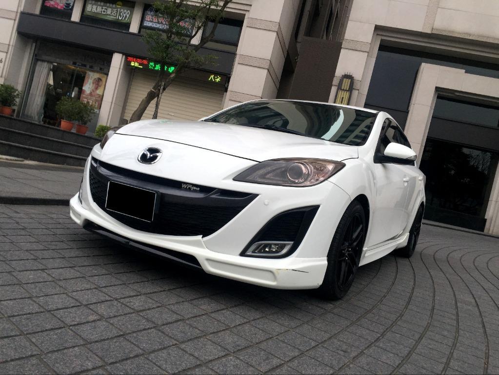 【FB搜尋桃園阿承】馬自達 超人氣MAZDA3 2011年 2.0CC 白色 二手車 中古車