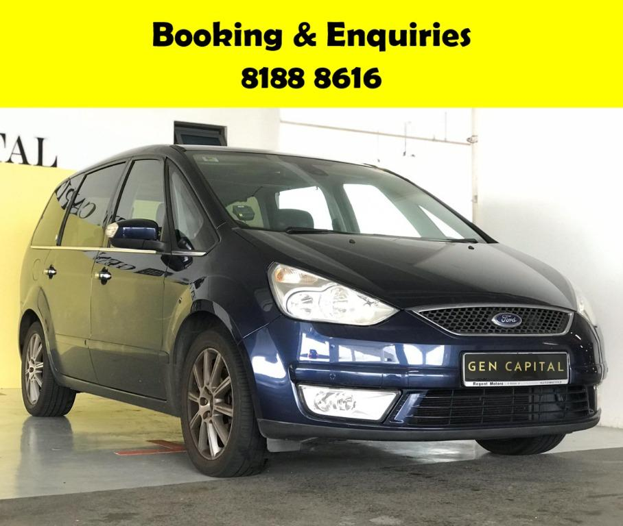 Ford Galaxy 2.3A 50% OFF CIRCUIT BREAKER PERIOD ONLY!! GRAB A CAR NOW TO ENJOY THE LOWEST RENTAL! WHATSAPP 8188 8616 FOR MORE INFO