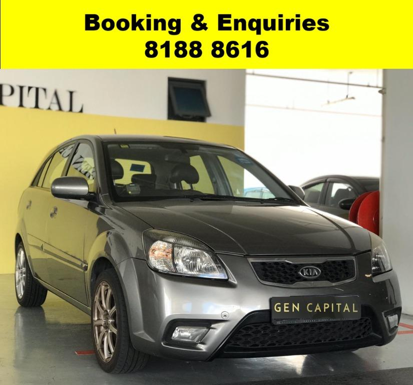 Kia Rio MOST FUEL EFFICIENT 50% OFF CIRCUIT BREAKER PERIOD ONLY!! GRAB A CAR NOW TO ENJOY THE LOWEST RENTAL! WHATSAPP 8188 8616 FOR MORE INFO!