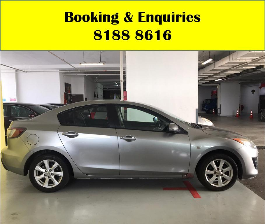 Mazda3 50% OFF CIRCUIT BREAKER PERIOD ONLY!! GRAB A CAR NOW TO ENJOY THE LOWEST RENTAL! WHATSAPP 8188 8616 FOR MORE INFO!