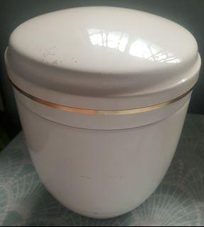 Metal white urn (new) for adult