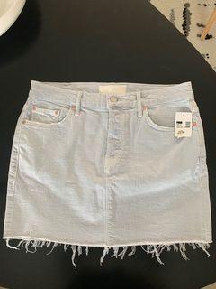 MOTHER Denim Mini Skirt