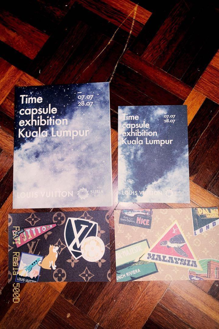 NEW Authentic LV LOUIS VUITTON  Time Capsule Exhibition Kuala Lumpur  #LVTimecapsule Limited Brochure & Postcard
