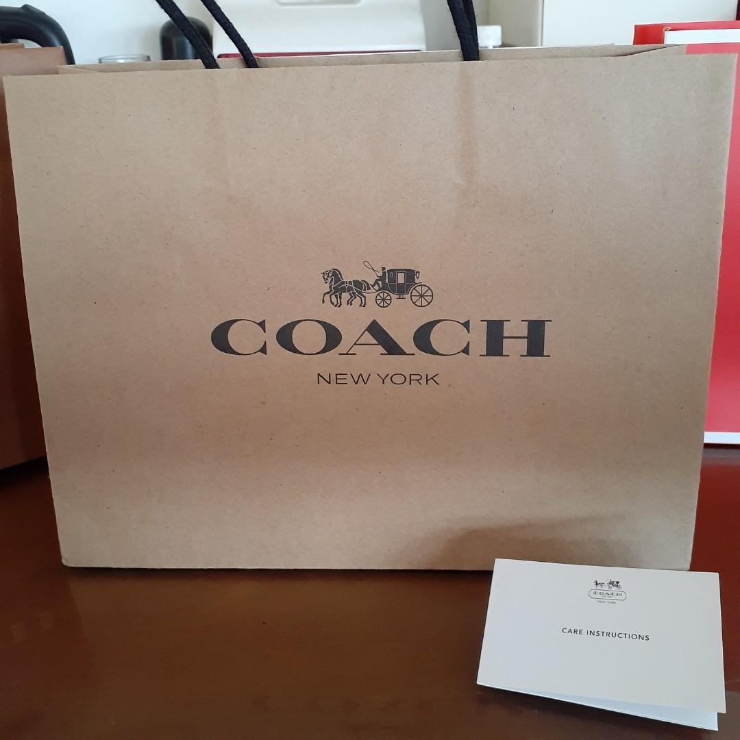 Paperbag Coach untuk dompet tas pinggang wristlet crossbody bag double zip bag