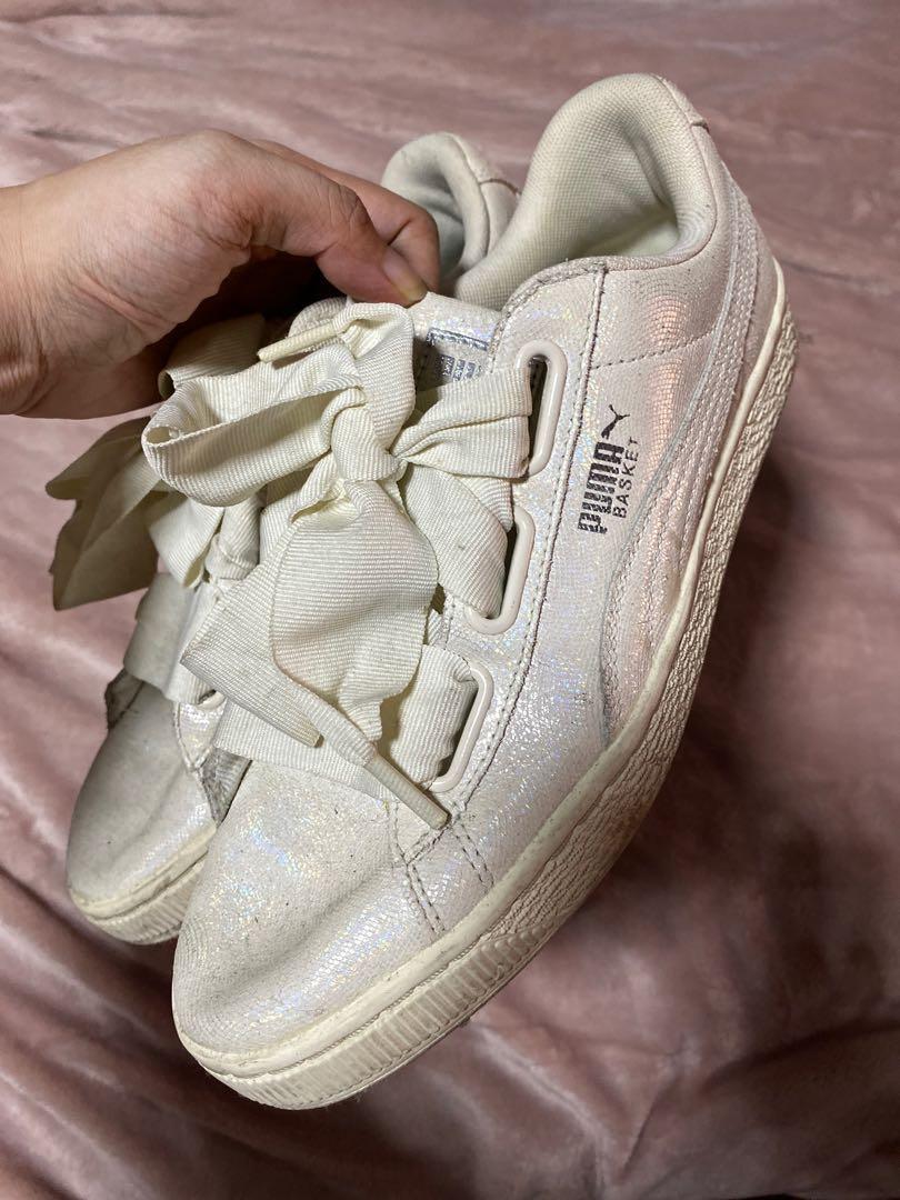 PUMA Glittery Basket Shoes (with silk